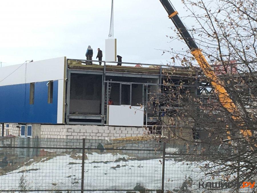 Завершающая стадия строительства ФОКа в микрорайоне-3