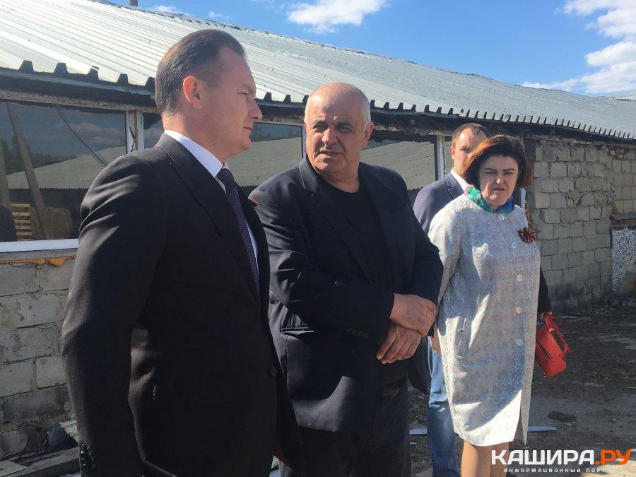 Глава каширского округа посетил семейное фермерское хозяйство