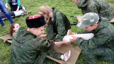 Каширские кадеты приняли участие в областном военно-спортивном конкурсе