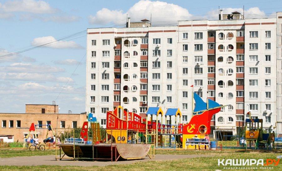 Две современные детские площадки открыли в Кашире