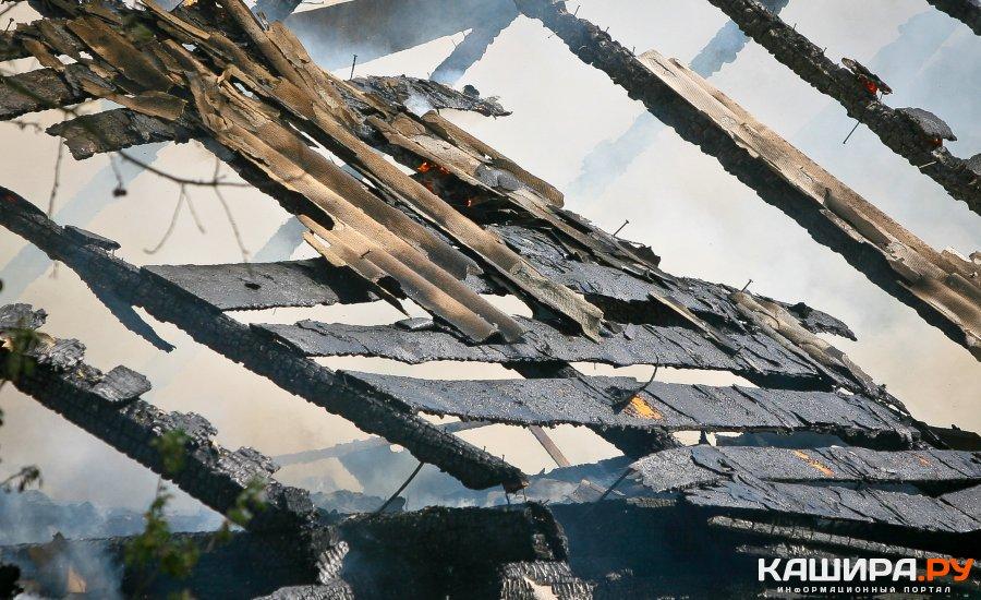 Деревянная баня сгорела в СНТ «Малое Кропотово»