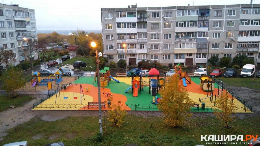 Новая детская площадка появилась на ул.Новой в Кашире-1