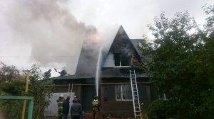 Пожар Кашира 2 по улице Масленникова