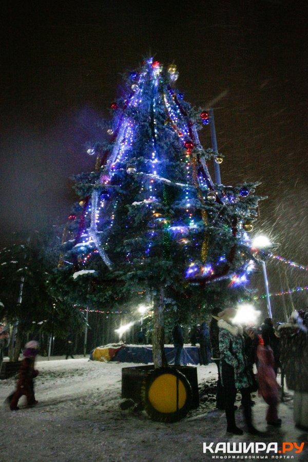 Новогодние ели засияли в Каширском городском округе